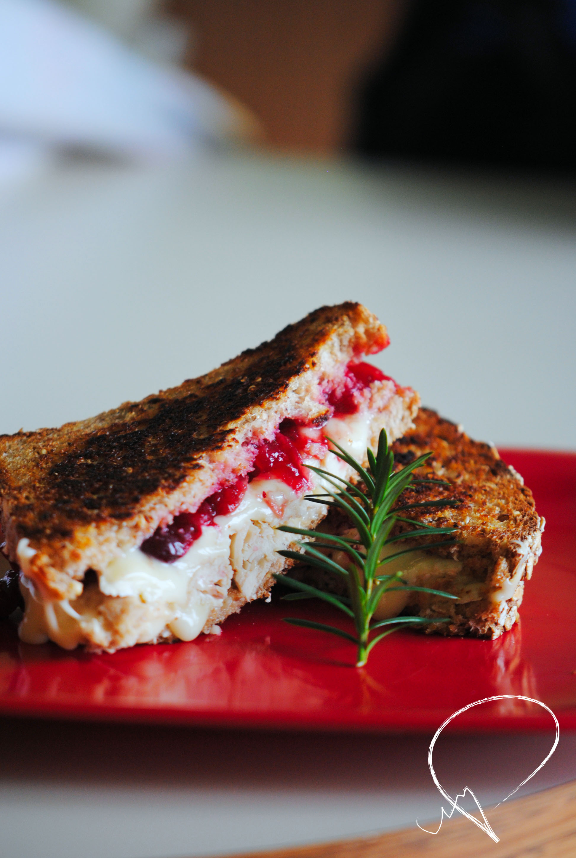 TBT: Thanksgiving Leftovers Grilled Cheese | Vivography